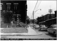 Historic photo from Wednesday, July 15, 1953 - Southeast corner Roxborough & Yonge Street in Rosedale