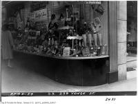 Historic photo from Friday, April 2, 1954 - Window display of Bata shoes on the south side 239 Yonge Street in Downtown