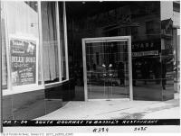 Historic photo from Wednesday, April 7, 1954 - South Doorway to Bassel's restaurant at 389 Yonge Street - Billy Duke Quartet in Ryerson