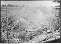 Historic photo from Thursday, November 9, 1911 - Spadina fill - construction of civic car line east of Bathurst in Forest Hill