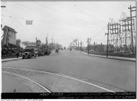 Historic photo from Thursday, May 7, 1931 - St Clair Avenue level crossing, looking east to Caledonia Road in Little Italy (St. Clair)