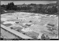 Historic photo from Thursday, May 22, 1930 - St. Clair Reservoir construction panorama from tower in Casa Loma