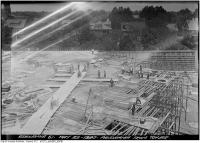 Historic photo from Thursday, May 22, 1930 - St. Clair Reservoir construction panorama from tower looking east in Casa Loma
