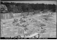 Historic photo from Thursday, May 22, 1930 - St. Clair Reservoir construction Panorama from tower looking south-east in Casa Loma