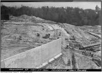 Historic photo from Thursday, May 22, 1930 - St. Clair Reservoir construction panorama from tower looking south-west in Casa Loma