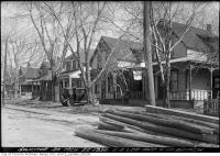 Historic photo from Saturday, March 22, 1930 - Homes on Lee Avenue north of Lake Ontario in The Beaches