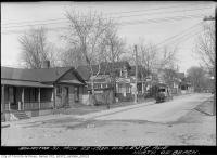 Historic photo from Saturday, March 22, 1930 - Leuty Avenue north of the beach with horse drawn wagon in The Beaches
