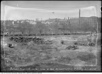 Historic photo from Tuesday, April 13, 1915 - Incinerator site - east side of Don north of Wilton (now Dundas) in Riverside-South Riverdale