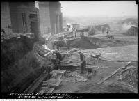 Historic photo from Tuesday, December 27, 1932 - Symes Road Incinerator - south-east corner foundation in Harwood