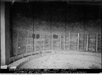 Historic photo from Tuesday, April 25, 1933 - Symes Road incinerator - stack lining and steel corset in Harwood