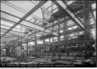 Historic photo from Tuesday, September 26, 1933 - Inside the Symes Road destructor during construction in Harwood