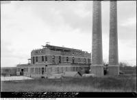Historic photo from Wednesday, November 8, 1933 - Partially completed Symes Road destructor in Harwood