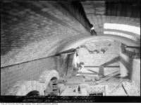 Historic photo from Wednesday, April 18, 1934 - Brick ceiling and arches - Symes Road incinerator in Harwood