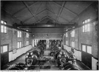 Historic photo from Friday, November 21, 1913 - Interior of the Toronto high level pumping station in the Annex in Republic of Rathnelly