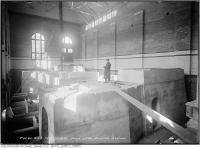 Historic photo from Friday, February 19, 1915 - Interior of the High level Pumping Station during construction in Republic of Rathnelly