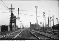 Historic photo from Wednesday, April 6, 1927 - Railroad illumination tower at Strachan Avenue in Liberty Village