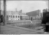 Historic photo from Tuesday, December 10, 1912 - Water at the foot of Church Street - now the Esplanade in St. Lawrence Market