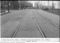 Historic photo from Tuesday, April 16, 1935 - King Street West, looking west to Wilson Avenue in King Street West