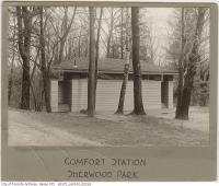 Historic photo from 1920 - Sherwood Park comfort station in Sherwood Park