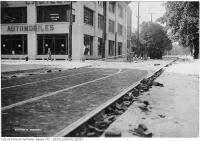 Historic photo from Wednesday, July 26, 1911 - Shuter and Victoria, paving and street car trackwork in Garden District