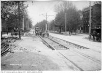 Historic photo from Saturday, May 13, 1911 - Intersection of Spadina and Harbord before widening in University of Toronto (U of T)
