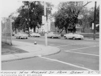 Historic photo from 1958 - Adelaide Street looking west from Brant Street - park veranda still standing in Alexandra Park