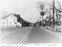 Historic photo from 1959 - College Street looking west to Brock Avenue in Brockton Village