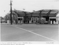 Historic photo from Friday, November 20, 1959 - Canadian Tire gas bar with butterfly canopy - Yonge Street and Church Street in Yorkville