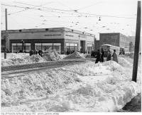 Historic photo from Monday, December 11, 1944 - Eatons College Street store - just one story - after snowstorm (22.5 inches in 36 hours) in Downtown