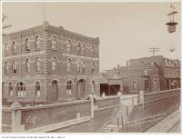 Historic photo from Wednesday, August 17, 1896 - Union Hotel with kids sitting outside, Parkdale on Queen Street West in Beaconsfield Village