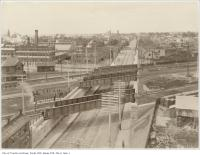 Historic photo from 1898 - Aerial view of Queen Street subway at Dufferin looking west in Parkdale