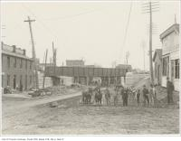Historic photo from Wednesday, November 17, 1897 - Queen Street subway at Dufferin looking west (or east ?) in Beaconsfield Village