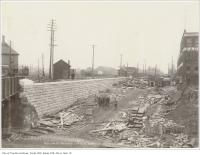 Historic photo from Wednesday, November 17, 1897 - Queen Street subway looking south on Dufferin Street in Beaconsfield Village