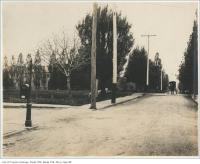 Historic photo from Wednesday, June 4, 1899 - Dunn Avenue looking south across Grand Trunk Railway crossing in Parkdale