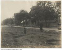 Historic photo from Wednesday, November 1, 1899 - Old cedar block pavement Brunswick Avenue north of Harbord Street in Harbord Village