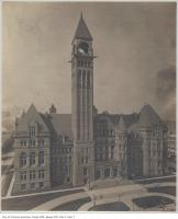 Historic photo from 1900 - Old City Hall, clock not yet installed in City Hall