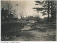 Historic photo from Wednesday, November 13, 1901 - Cluny Avenue and Crescent Road looking east in Rosedale