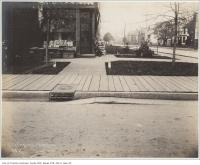 Historic photo from Wednesday, October 30, 1901 - Concrete gutter northwest corner of Sussex Avenue and Brunswick Avenue outside store in Harbord Village