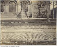 Historic photo from Tuesday, October 7, 1902 - Woman sitting outside College Street Baptist Church (506 College Street) in Little Italy (College St)
