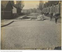Historic photo from Friday, November 6, 1903 - Sheridan Avenue brick street in Brockton Village