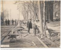 Historic photo from Thursday, November 12, 1903 - Paving King Street west of Beaty in King Street West