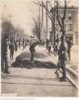 Historic photo from Thursday, November 12, 1903 - Road work on King Street at Cowan Ave in Parkdale