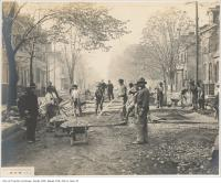 Historic photo from Monday, November 2, 1903 - Manual labour on Wilton Avenue (now Dundas) in Garden District