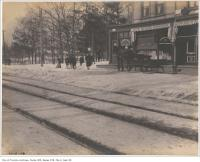 Historic photo from Saturday, February 20, 1904 - KEW Beach Grocery and Smith - Queen Street west of Lee Avenue in The Beaches