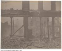 Historic photo from Friday, April 22, 1904 - Close up of the ruins after the Toronto fire of 1904 in Great Toronto fire of 1904
