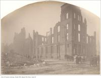 Historic photo from Friday, April 22, 1904 - Aftermath of the 1904 : northeast corner of Bay and Front Streets in Great Toronto fire of 1904