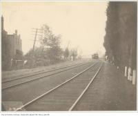 Historic photo from Thursday, October 6, 1904 - Train approaching on Grand Trunk Railway east of Dunn Avenue in Parkdale