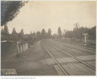 Historic photo from Thursday, October 6, 1904 - South Parkdale Station in distance beyond Dunn Avenue and Grand Trunk Railway in Parkdale