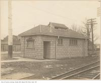Historic photo from Thursday, February 22, 1906 - Exterior of the Cottingham Street Mens washroom at Yonge Street in Summerhill