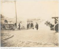 Historic photo from Saturday, October 21, 1905 - Roadwork on Withrow Ave at Logan Ave in Riverdale